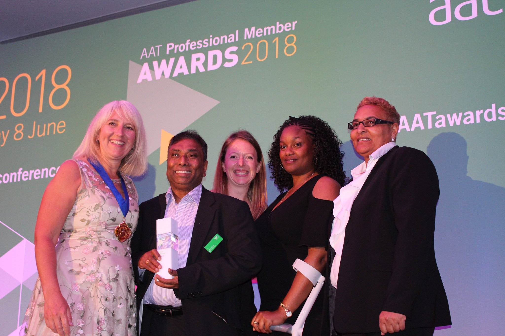 AAT Branch of the Year - East Surrey - collecting their award