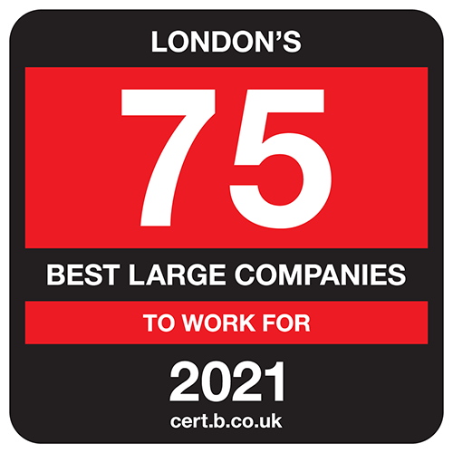 AAT is in the top 75 of Londons best large companies to work for