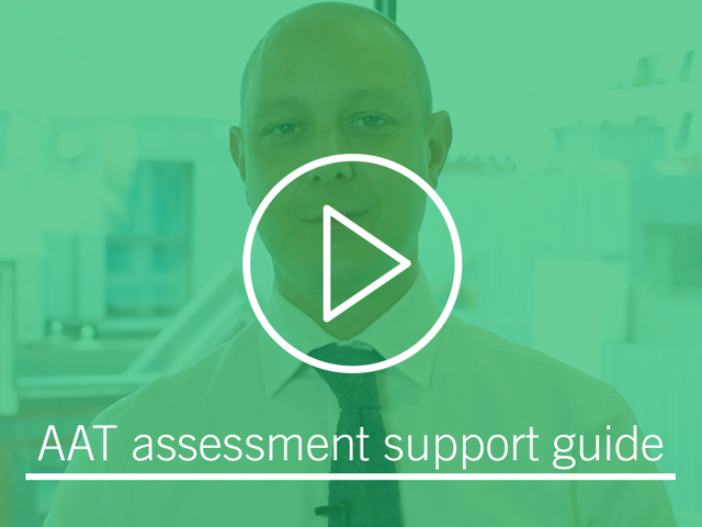 Watch the AAT assessment support guide on YouTube