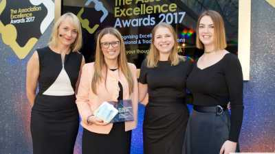 image: BBC presenter Louise Minchin with AAT staff members Emily Slevin and Sarah Empson (Centre)