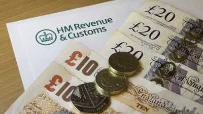 image: cash and HMRC letter
