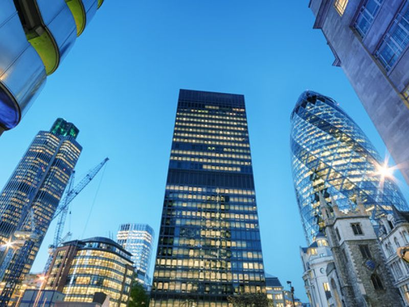 image: towers in city of london